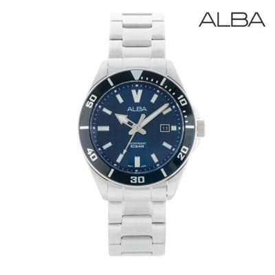 세이코 알바 정품 남성 방수 메탈 손목시계 AG8J33