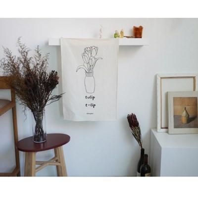 [일레갈로] 튤립 드로잉 패브릭포스터