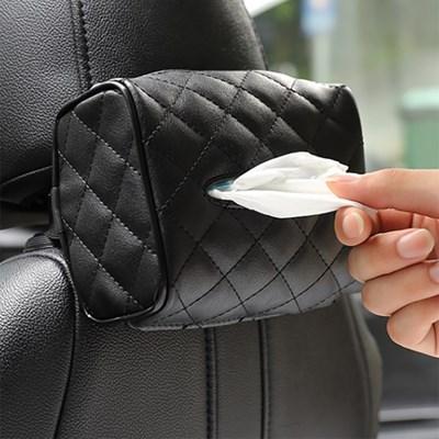 차량용 걸이식 티슈케이스(블랙) 자동차 티슈커버