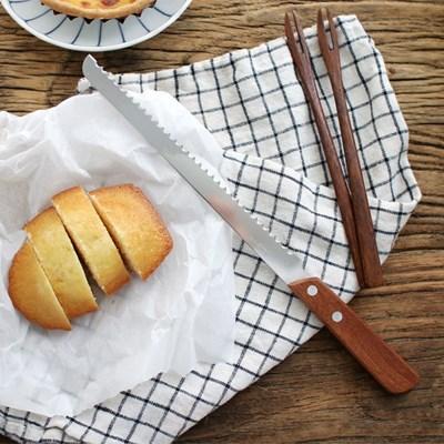 우드 핸들 브래드 나이프 빵칼