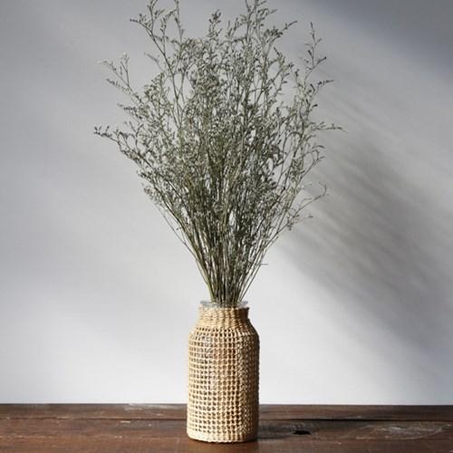 인테리어 라탄 유리 화병 꽃병