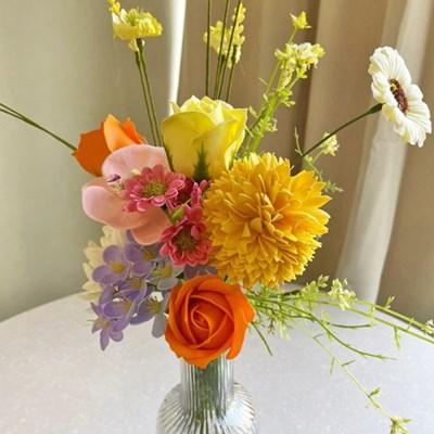 상큼한 컬러의 들꽃 조화 & 비누플라워 set - 비누꽃, 인테리어조화