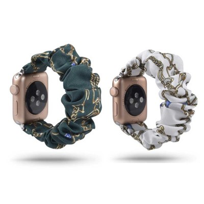 애플워치 SE 6 5 4 3 2 빈티지패턴 곱창스트랩