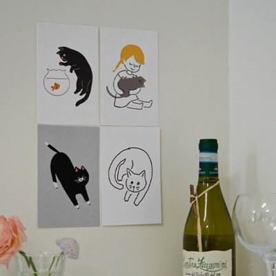 키티 엽서  / 고양이 엽서세트 (10종 세트_RM 315001)