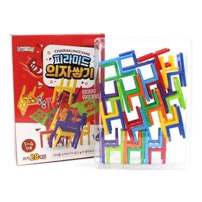피라미드 의자쌓기 28개입(1~4인용)균형감각 창의력발달