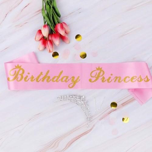 생일어깨띠 Birthday Princess