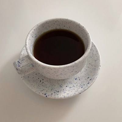 클래식 블루 도트 커피잔세트