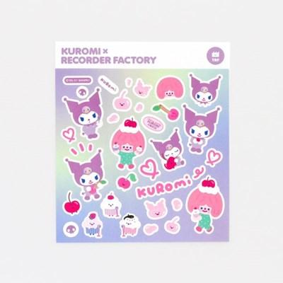KUROMI x RECORDER FACTORY STICKER - CHERRY PARTY BAND