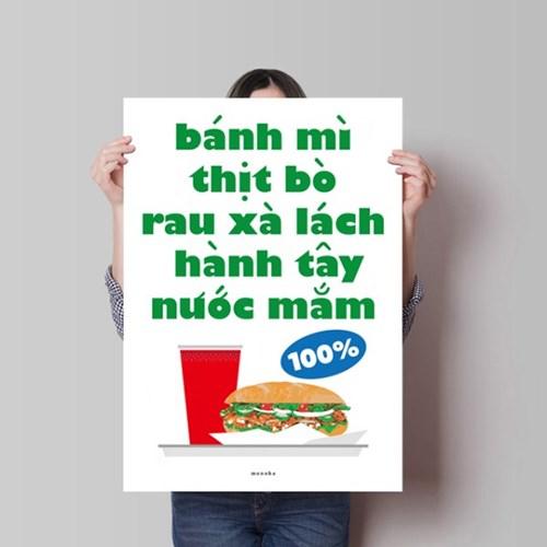 신선한 반미 M 유니크 인테리어 디자인 포스터 베트남 식당