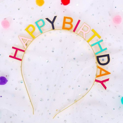 메탈 생일머리띠 HAPPY BIRTHDAY
