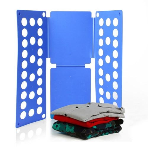 초간단 옷접기 폴더(블루)  빨래 개기 정리판