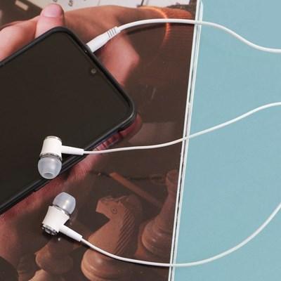 플로우 커널형 이어폰(화이트)/ 무통증 핸즈프리