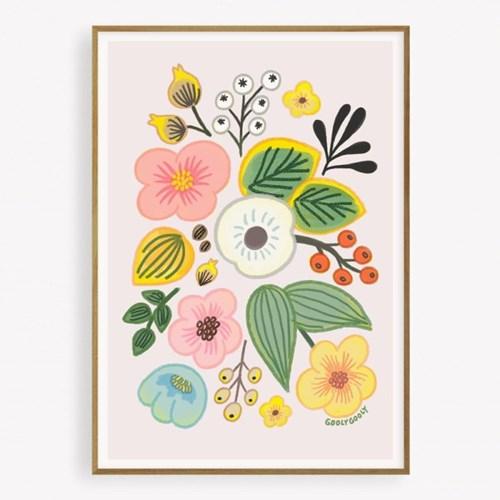 굴리굴리 포스터 GREETING FLOWERS  (076)