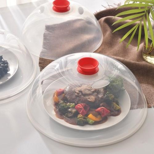 다용도 전자레인지용 음식덮개 3P 세트(소/중/대) 레드