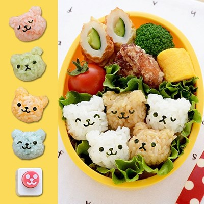 아기 곰돌이 미니 주먹밥틀 김펀치세트