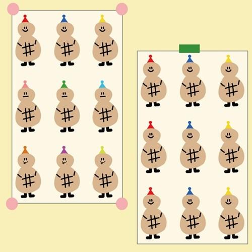 [데일리라떼] 땅콩삼형제 스티커