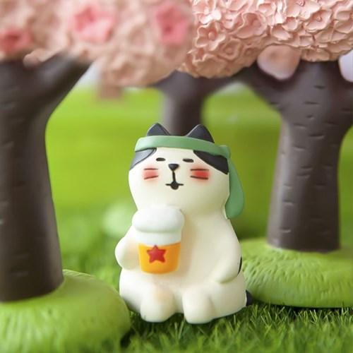 데꼴 2021 벚꽃 피규어 맥주고양이