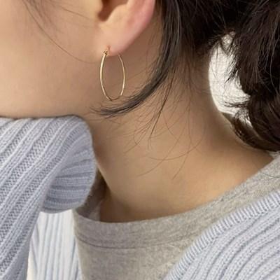 (silver 92.5) 베이스 링 귀걸이