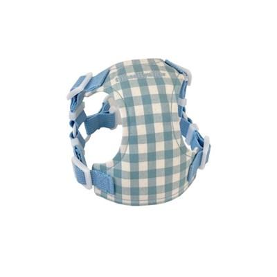Classic check harness (sky blue)
