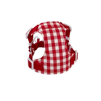 Classic check harness (red)