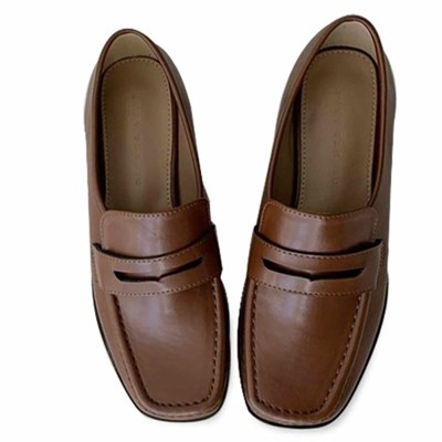 kami et muse Square toe stitch loafers_KM20w332