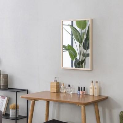 심플 원목 화장대거울 벽거울