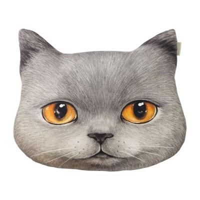 러시안블루 고양이 러블리 얼굴쿠션