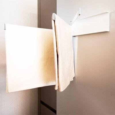 화이트메탈 3단 자석 주방 화장실 욕실 수건 걸이