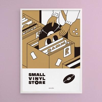 스몰 바이닐 스토어 M 유니크 인테리어 디자인 포스터 음반