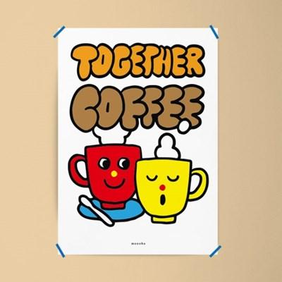 투게더 커피2 M 유니크 인테리어 디자인 포스터 카페