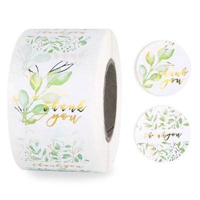 땡큐 내추럴 나뭇잎 벌크팩 라벨 (500개)