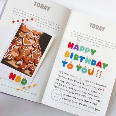 생일초 알파벳/숫자 씰스티커