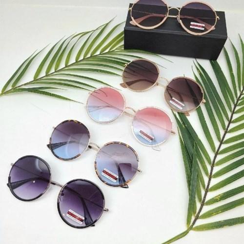 가벼운 도수없는 금테 블랙 핑크 패션 선글라스