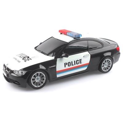 2.4GHz 1/18 BMW M3 경찰차 무선조종RC 블랙