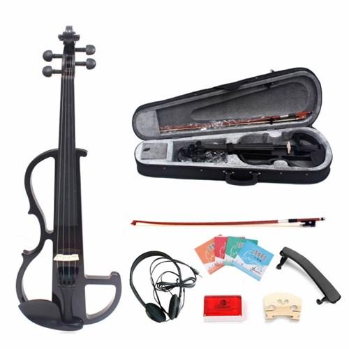 연습용 전자 바이올린 풀세트 입문용 케이스포함_(1867938)