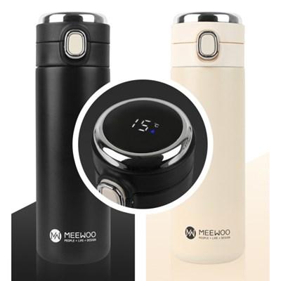 미우 MEEWOO 원터치 온도표시 스마트 LED 온도계 텀블러