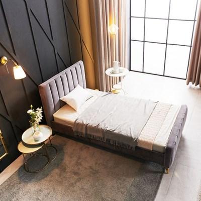 KUF 엘핀 벨벳 침대,메모리폼 매트 20cm SS_(2152619)