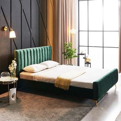 KUF 엘핀 벨벳 침대,메모리폼 매트 15cm K_(2152612)