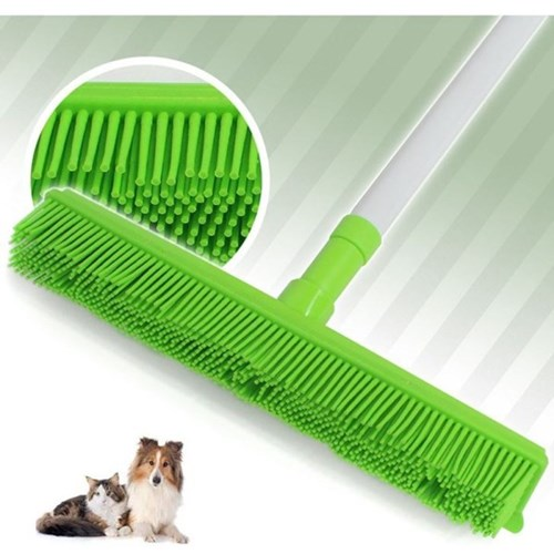 고양이 털 빗자루 실리콘 밀대 강아지 털 청소기 그린