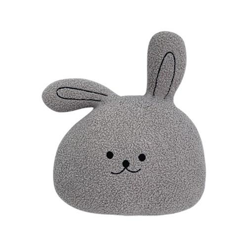 하라홈 동물시리즈 건대 뽀글 토끼 얼굴쿠션_(1814129)