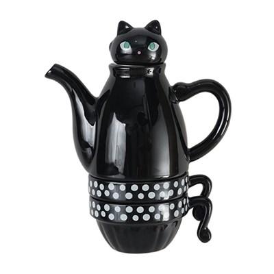 신지카토 도자기 티포투 고양이 400ml_(2024823)