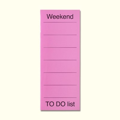LIST 02-Weekend to do