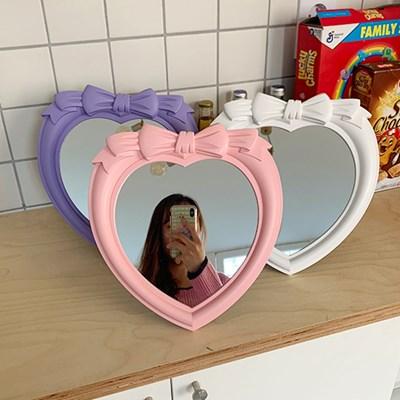 Ribbon Heart Mirror 리본하트거울