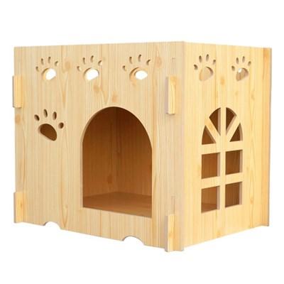 다기능 원목 하우스 강아지 고양이 집 숨숨집 1단