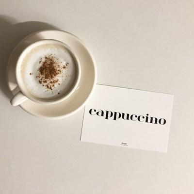 cappuccino 카푸치노 텍스트 엽서