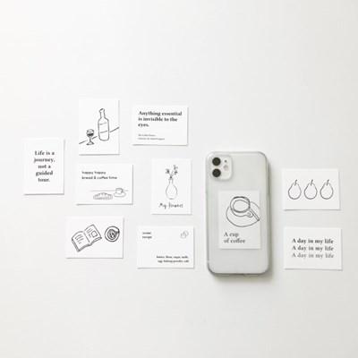 미니 드로잉 엽서 (휴대폰 데코 카드)