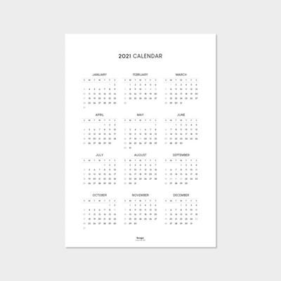 2021 심플 포스터 달력 (A3)