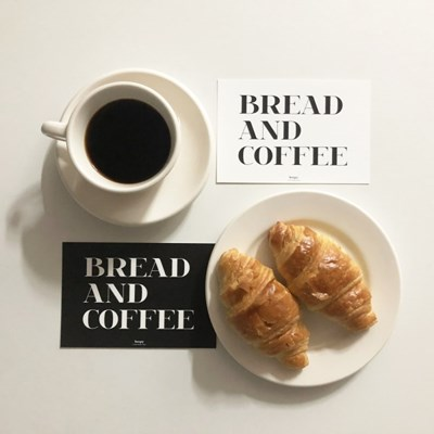 Bread and Coffee 브레드 앤 커피 텍스트 엽서