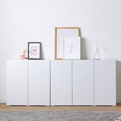 [에띠안]마벨 LPM 800/1200 광폭 특대 높은 수납장 거실장 화이트