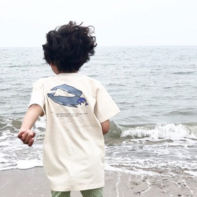 [Organic cotton] Sperm whale (Kids)